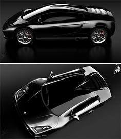 "Lamborghini SPIGA Concept Car The name ""SPIGA"" refers to the roof shape of the car which sticks out along the windshield giving it a spike-like shape which translates in Italian as SPIGA. [link]"