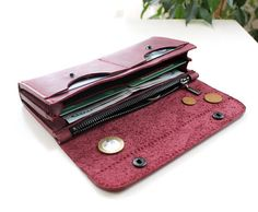 Leather Wallet Womens Long Travel Clutch Card Holde