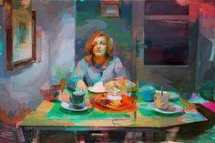 Jose Luís Ceña Ruiz | Caprichos | Oil on canvas | 47 ¼ x 70 ¾ inches or 120 x 180 cm