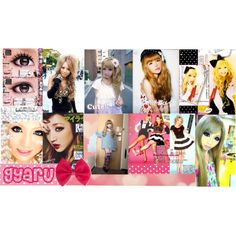 Gyaru Style by may-clover on Polyvore featuring schoonheid, 2b bebe, japan, gyaru and Tsubasa