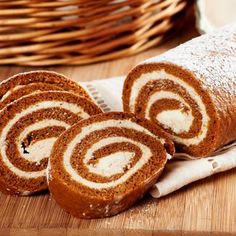 Here's a true crowd-pleaser! This Pumpkin Roll with Spiced Cream Cheese Filling is sure to wow!