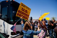 """""""A bus carrying migrant families was on the move once again early Wednesday, hours after being blocked by flag-toting protesters in Murrieta, California.""""  7/2/2014"""