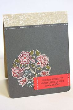The Best Thing In Life Card by Heather Nichols for Papertrey Ink (January 2013)