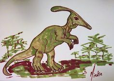 How to draw: A Parasaurolophus Drawing Lessons, Animal Drawings, Arts And Crafts, Christmas Ornaments, Holiday Decor, Pretty, Artist, Blog, Painting