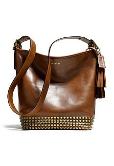 COACH LEGACY ARCHIVAL STUDDED LEATHER DUFFLE