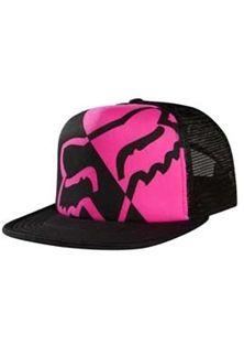 6605ec25 Fox Racing Womens Integrate Trucker Hat in Black Track Hairstyles, Fox  Rider, Flat Bill