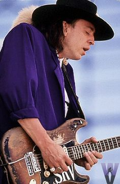 Stevie Ray Vaughan was a powerful and emotional player of the Texas blues. This man had soul flowing out of his hands.