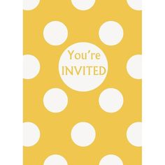 Check out Yellow Dots Invitations - Cheap Invitations and Thank Yous from…