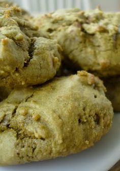 Almost Half-Baked: Green Tea (Matcha) Chocolate Chip Cookies Redux