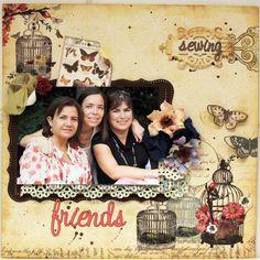 SEWING FRIENDS *** MY CREATIVE SCRAPBOOK*** - Scrapbook.com (created by Luzma) Wendy Schultz onto Scrapbook Layouts.