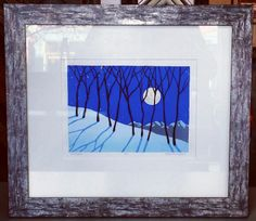 We love the icy look this frame gives the artwork! Custom framed by FastFrame of LoDo. #Art #Framing #Denver #Colorado