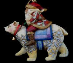 Santa on a Polar Bear, Jim Shore Christmas Ornament