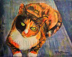 Cali Lekiah - Acrylic on canvas. Custom pet portrait by LuvFurArt.com