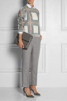 Stella McCartney plaid-intarsia knitted sweater