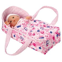 Corolle Floral Carry Bed Inspires pretend play memories Fits up to a baby doll Doll sold separately Baby Doll Clothes, Doll Clothes Patterns, Baby Dolls, Toys For Girls, Kids Toys, Baby Doll Carrier, Baby Sewing Projects, Bitty Baby, How To Make Bed