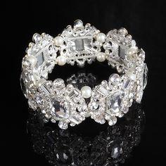 Wedding Jewerly Wholesale Rhinestones Bride Bracelets Adjustable Bracelet