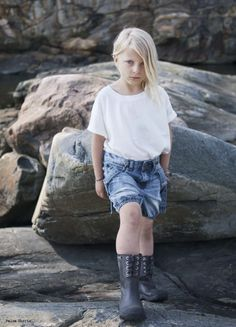 I Dig Denim summer 2013 , simple T-shirts and worn look denim for girls