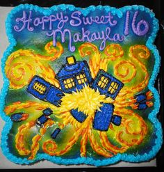 My Doctor Who, 16th Birthday Cake by Paul's Bakery :)