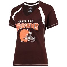 Cleveland Browns Majestic Women's Plus Size Game Day V-Neck T-Shirt - Brown - $31.99