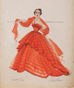 Costume design by Sheila OBrien for Joan Crawford in Sudden Fear (1952). From Profiles in History