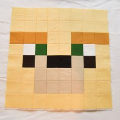I had a recent request from Kelly who is using 9 of the Minecraft Block designs to make a quilt for her daughter's class fundraiser; the nine blocks include the request of an Ocelot or Cheeta… Minecraft Blanket, Minecraft Pattern, Minecraft Blocks, Minecraft Art, Minecraft Ideas, Minecraft Crochet, Minecraft Stuff, Minecraft Crafts, Scrappy Quilts