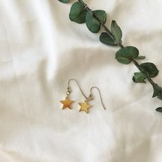 Gold Star Earrings, Gold Stars, Trending Outfits, Unique Jewelry, Handmade Gifts, Etsy, Vintage, Kid Craft Gifts, Handcrafted Gifts