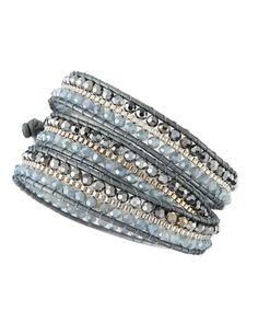 Czech+Crystal+Beaded+Wrap+Bracelet+by+Nakamol+at+Neiman+Marcus.