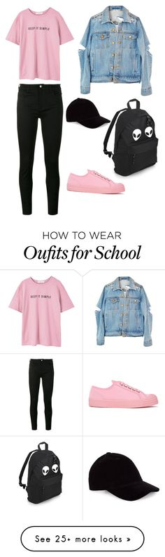 """Keep it simple"" by fouzv on Polyvore featuring MANGO, Gucci, Novesta and Le Amonie"