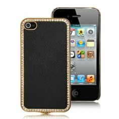 This leather hard case cover is the ideal ways to keep your beloved APPLE iPhone 4 / 4S safe and brings bold looks and sassy personality. With its elegant and deluxe design, your iPhone 4 must be eye-catching. The surface of the case is sealed with premium leatherette, then rhinestones are inlaid around, adds sparkles and operates your iPhone as usual but with a new look.    Brand new high quality Deluxe Rhinestone Surrounding Leather & Hard Case For iPhone 4 / 4S  This case is mainly made …