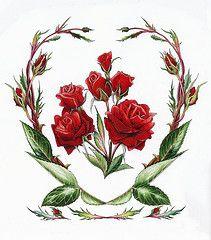 Rose June Flower of the Month (Myrea Pettit) Tags: flowers red flower art floral june rose painting artist drawing flowerart fairiesworld myrea myreapettit flowersofthemonth wwwfairiesworldcom
