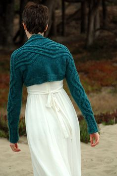 Entrechat by Kristen Hanley Cardozo. Such a lovely pattern for a sweater. The back of that dress is rather lovely as well!