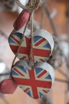 Regally Chic Union Jack Hearts