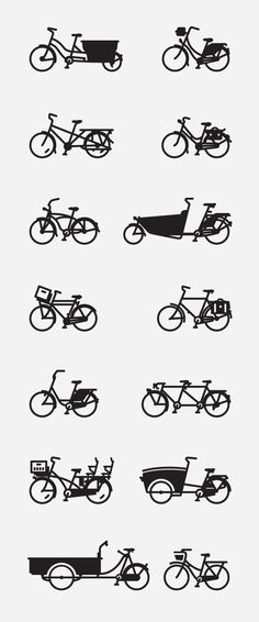 bikes, styles, wheels, kinds of bikes, fun, illustration, line drawings