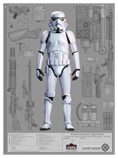 Star Wars: Stormtrooper Equipment by Chris Reiff Star Wars Fan Art, Star Wars Concept Art, Images Star Wars, Star Wars Pictures, Star Wars Sith, Chewbacca, Stargate, Posters Geek, Stormtrooper Art