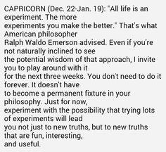 Experiment Tropic Of Capricorn, Experiment, Wisdom, Good Things, Life