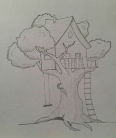 how to draw a treehouse step by step. Plain Draw Treehouse For How To Draw A Step By