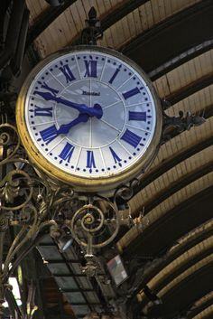 Gare de Lyon, Paris. The clocks in the train stations make me tingly too - something to do with being in a time capsule. www.lapetitesuzi.com