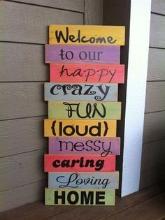 sign for house front door autism - Google Search