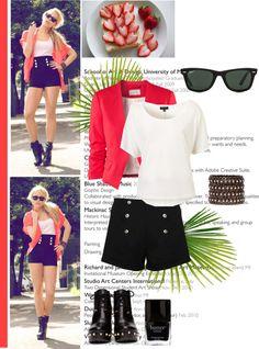"""Coral blazer:)"" by liza-kk ❤ liked on Polyvore"