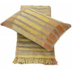 Linen and Moore Sahara silk and wool cushion :: Zanui Living Area, Cushions, Wool, Blanket, Bed, Silk, Crafts, Throw Pillows, Toss Pillows