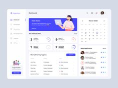 Recruitment Dashboard - UI designed by Paulina Szmid. Connect with them on Dribbble; Dashboard Interface, Web Dashboard, Ui Web, Dashboard Design, Interface Design, Wireframe, Ui Components, Design Ios, Good Notes