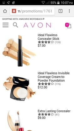 #foundation and #concealer are buy one get one $2.99 at www.youravon.com/aweifenbach #makeup #skincare #beauty