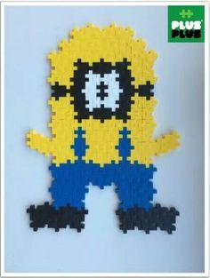 figurine Minion en Plus plus Plus Plus Construction, Construction For Kids, Diy Projects For Kids, Diy For Kids, Crafts For Kids, Arts And Crafts, Plus Plus Modele, Minions, Baby Momma