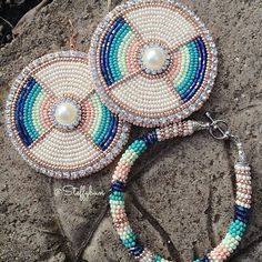 """""""Where the Sea Hits the Sand"""" - Just sharing a pair of custom ordered earrings to match her bracelet.  #steffybundesigns"""
