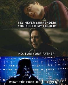Severus Snape, harry potter and darth vader