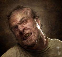 Man mutating into Imp 2 by aaronsimscompany.deviantart.com on @deviantART