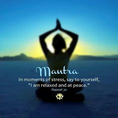 I am relaxed and at peace. #mantra #affirmations