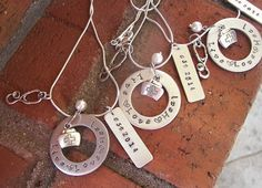 925 sterling silver, Custom made nurses charm necklace, with  live  ,love, heal,  with nursing charms and graduation date,  Great gift for the new graduate. or any nurse     PLEASE NOTE: These pieces are hand stamped. They are not machine made. Each letter is stamp one at a time, by hand. Part of the charm of hand stamped jewelry is that the letters are not always perfectly straight. Please do not consider these imperfections as defects, but as part of the character of the piece.  To…