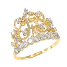 Looking for Quinceanera Jewelry White Gold CZ-Studded Crown Sweet 15 Anos Quinceanera Ring ? Check out our picks for the Quinceanera Jewelry White Gold CZ-Studded Crown Sweet 15 Anos Quinceanera Ring from the popular stores - all in one. Diamond Cluster Ring, Diamond Bands, Diamond Wedding Bands, Morganite Engagement, Rose Gold Engagement Ring, Sweet 15, Gold Crown, Unique Rings, Fine Jewelry