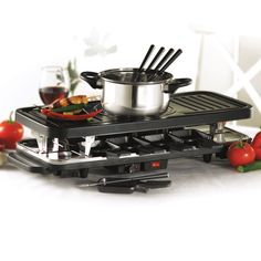 Miro 3 in 1 Grill, Fondue and Raclette